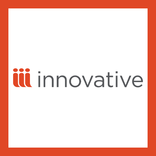 Innovative icon with the orange-red triple I in front of the text: Innovative