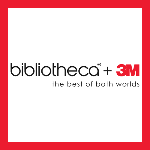 Icon: bibliotheca and 3M. Text: the best of both worlds.